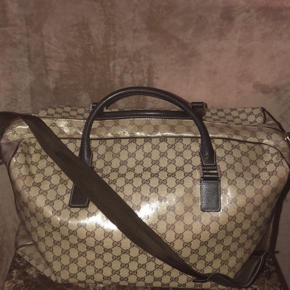 60ccdacfb7fd5c Gucci Bags | Gg Monogram Dufflebag Carryall | Poshmark